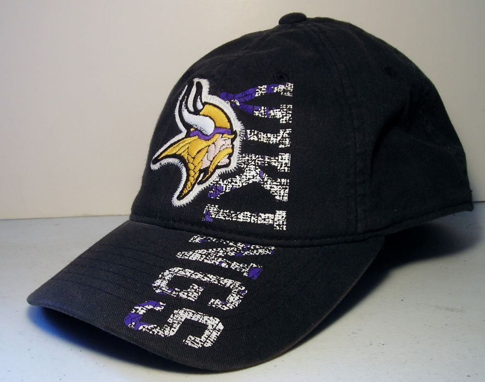 Minnesota Vikings NFL Baseball Football Hat Black Embroidered Logo Reebok  Cap  Reebok  MinnesotaVikings c4514ff9475