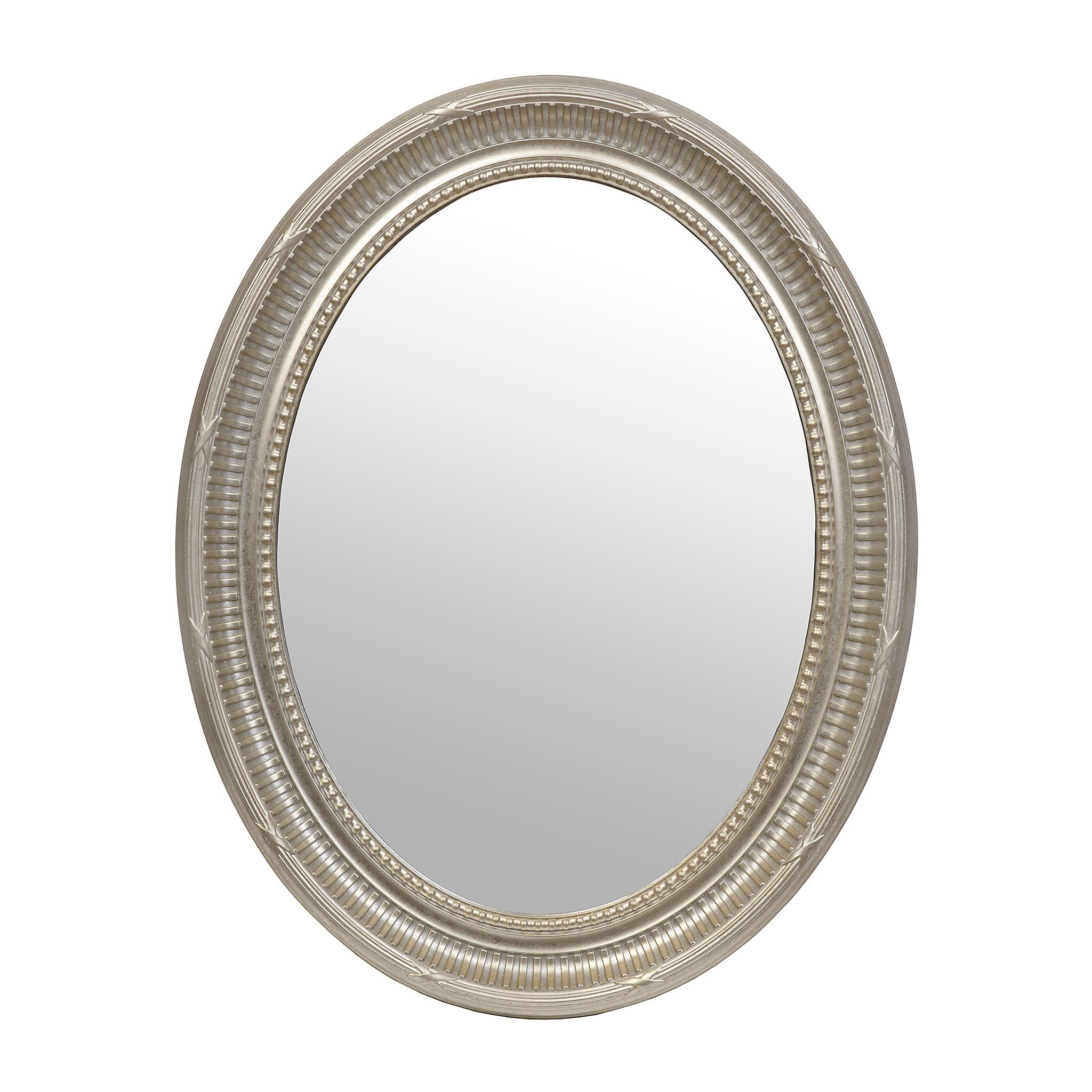 Harrison Silver Framed Oval Mirror, 26X335