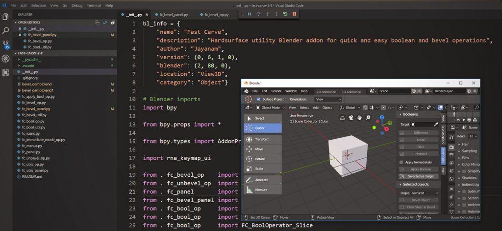 Blender 2 8 addon development with VSCode | Blender 3D