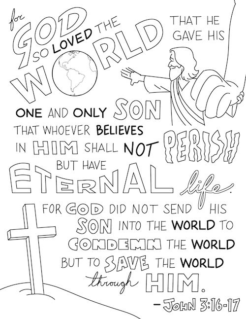 Bible Coloring Sheets And Printables For Kids With Images