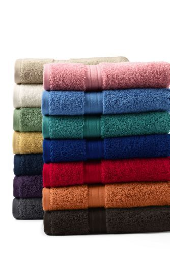 SupimaBathTowelsfromLandsEnd EDGEWATER HARRISONS MONOGRAM - Supima towels for small bathroom ideas