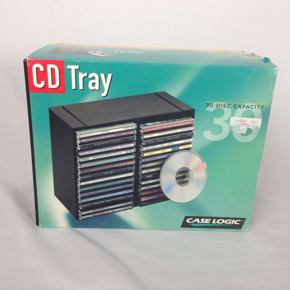 New Old Stock Case Logic 30 Disc Cd Holder Storage Box