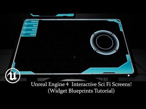 Unreal Engine 4 Interactive Sci Fi Screens! (Widget