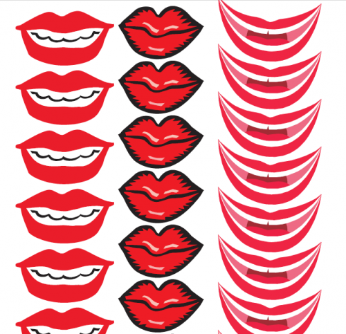 Faça você mesmo: bocas e bigodes de papel para seu casamento