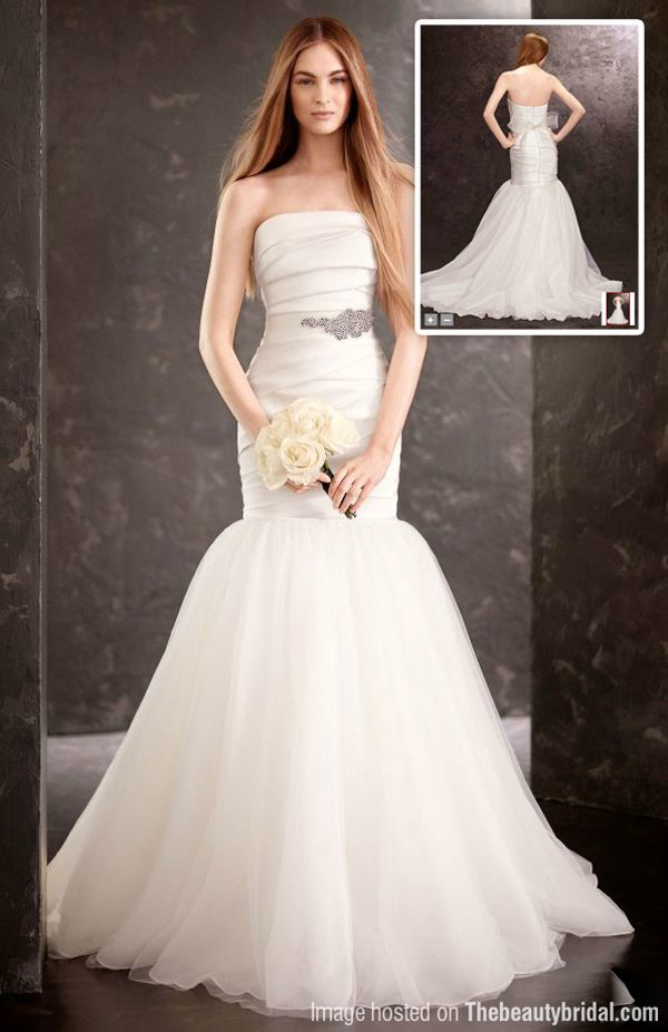 Strapless Mermaid Wedding Dress White By Vera Wang Fall 2013