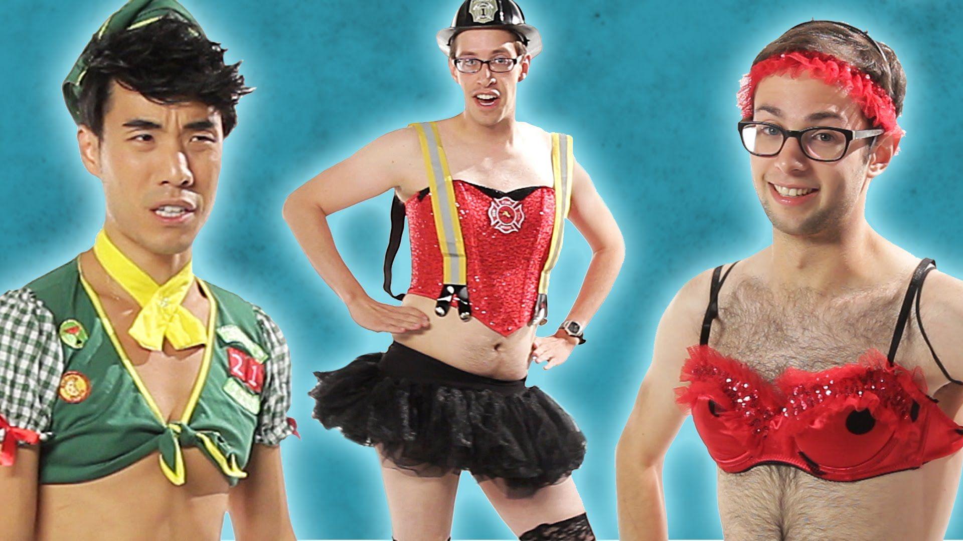 #Men Try On Ladiesu0027 #Sexy #Halloween #Costumes