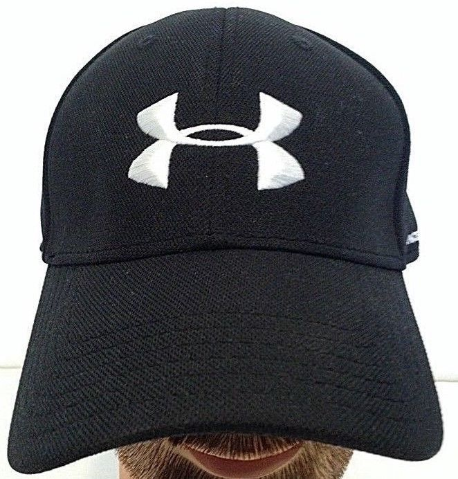 Unisex Under Armour Hat Raised Embroidery Black L Xl Fitted