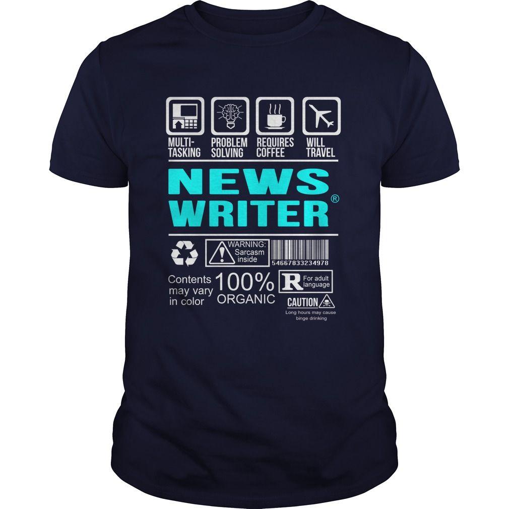 NEWS WRITER T-Shirts, Hoodies. Get It Now ==>…