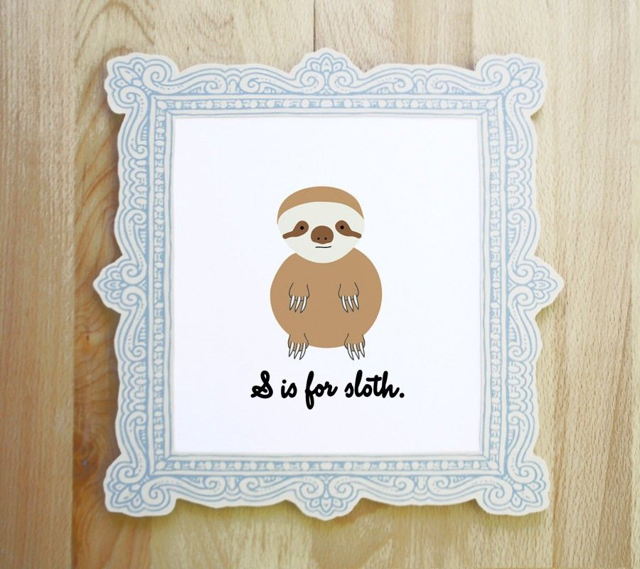 S is for Sloth Print