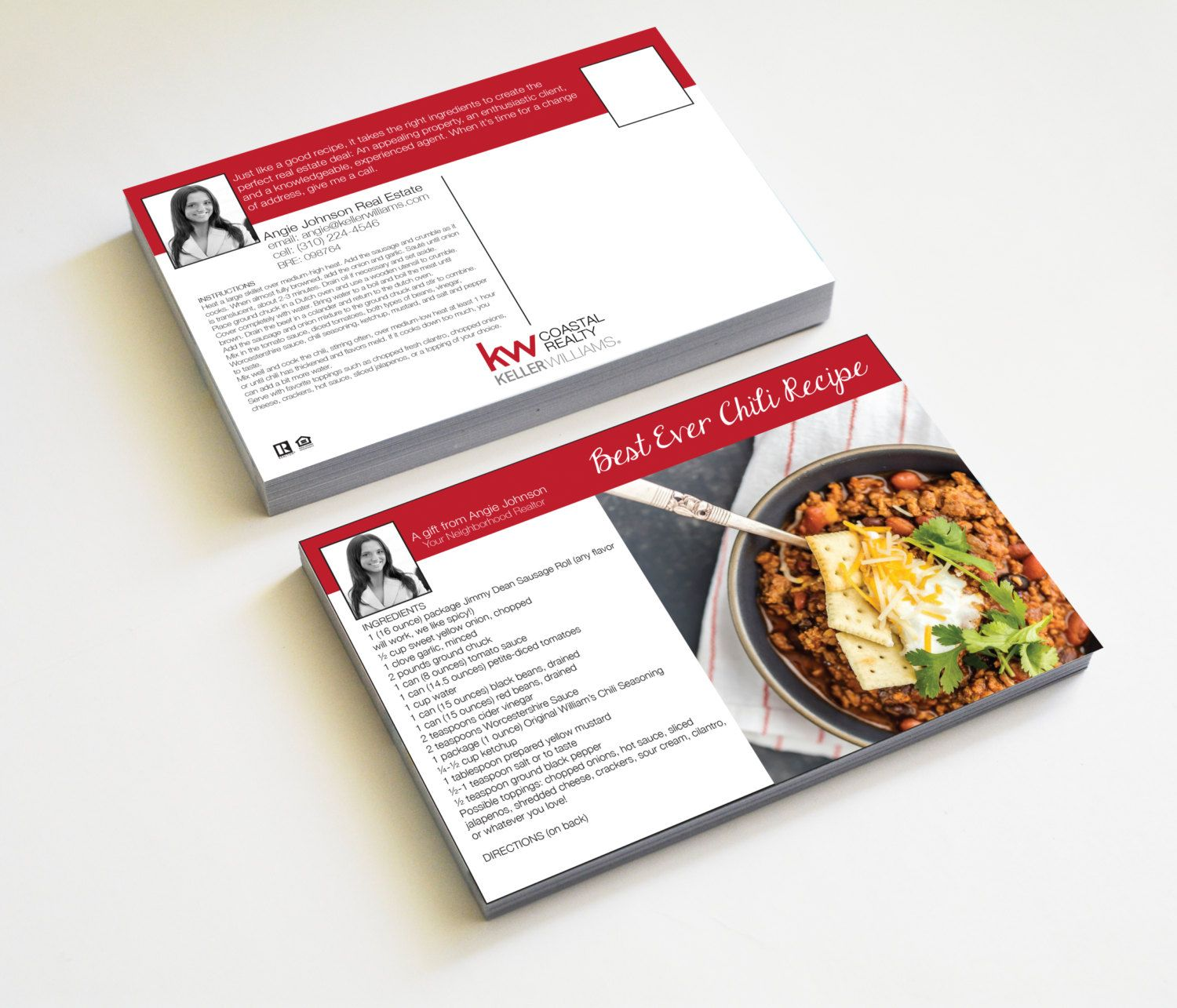 ON SALE NOW! Realtor Real Estate postcards Recipe Card business ...
