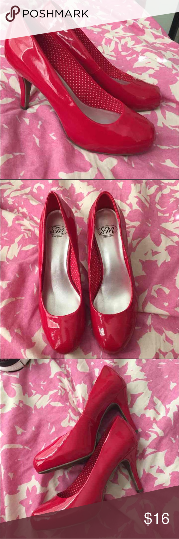 Red High Heels Size 8 I Ve Worn These Heels A Few Times But I Don T Need Them Anymore I Bought Them At Jcpenny They Are A Si Red High Heels Heels