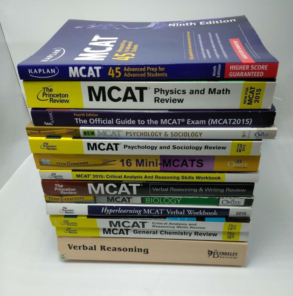 Lot mcat test prep books very recent kaplan