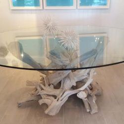 Hampton Driftwood Dining Table Base For Round Gl Top Not