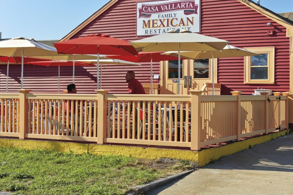 A Colorful Railing Cra Ed In Azek Keeps This Deck Safe At Mexican Restaurant On Cape Cod