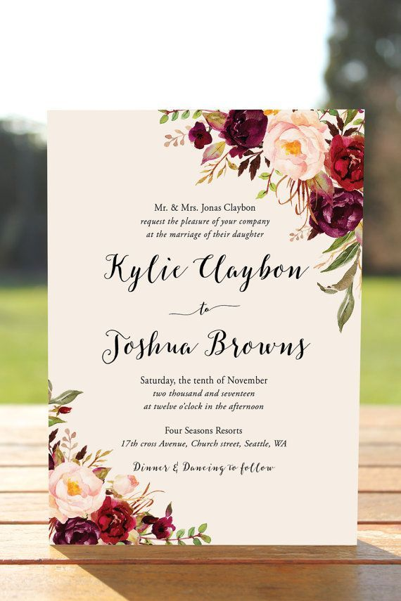 Bohemian wedding invitation suite fall wedding par inkandveil bohemian wedding invitation suite fall wedding par inkandveil stopboris Gallery