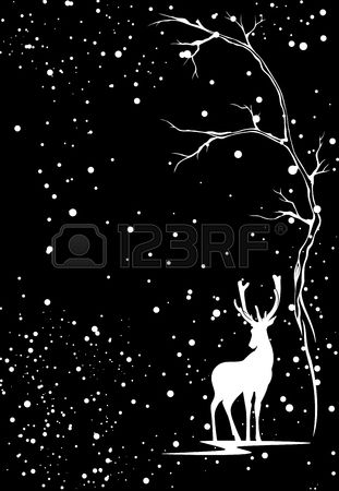 Stock Vector #winterbackground