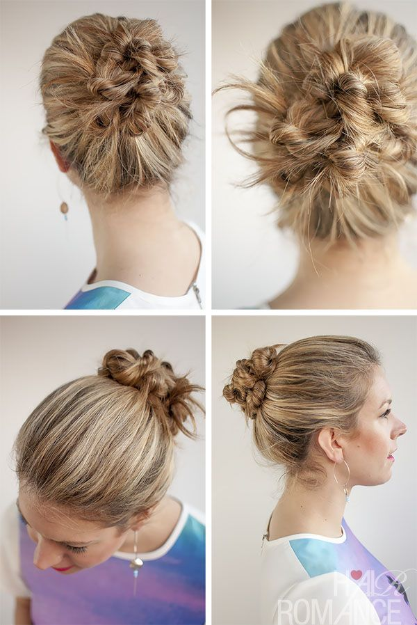 Buns Hairstyles 30 Buns In 30 Days  Day 19  Twist And Pin Bun Hairstyle  Bun