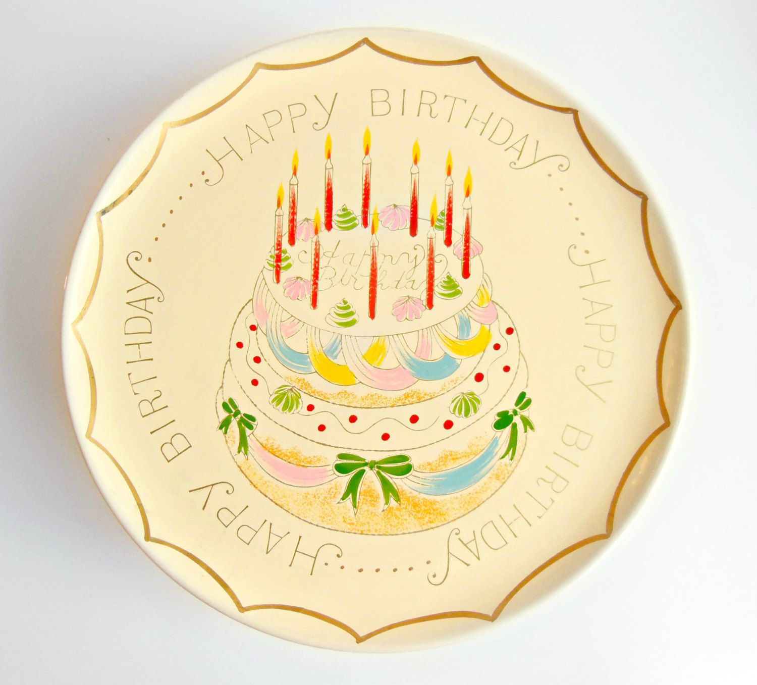 Surprising Musical Cake Plate On Stand Birthday Party Supplies Revolving Birthday Cards Printable Trancafe Filternl