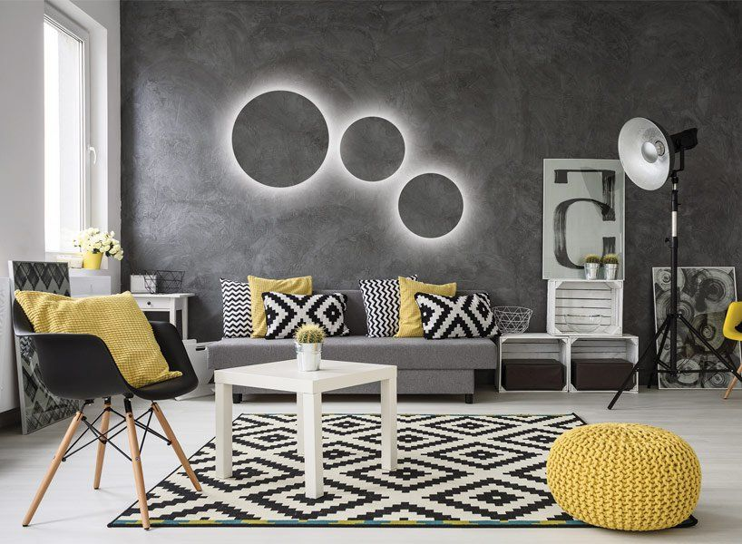 10 Best Yellow And Black Living Room Ideas