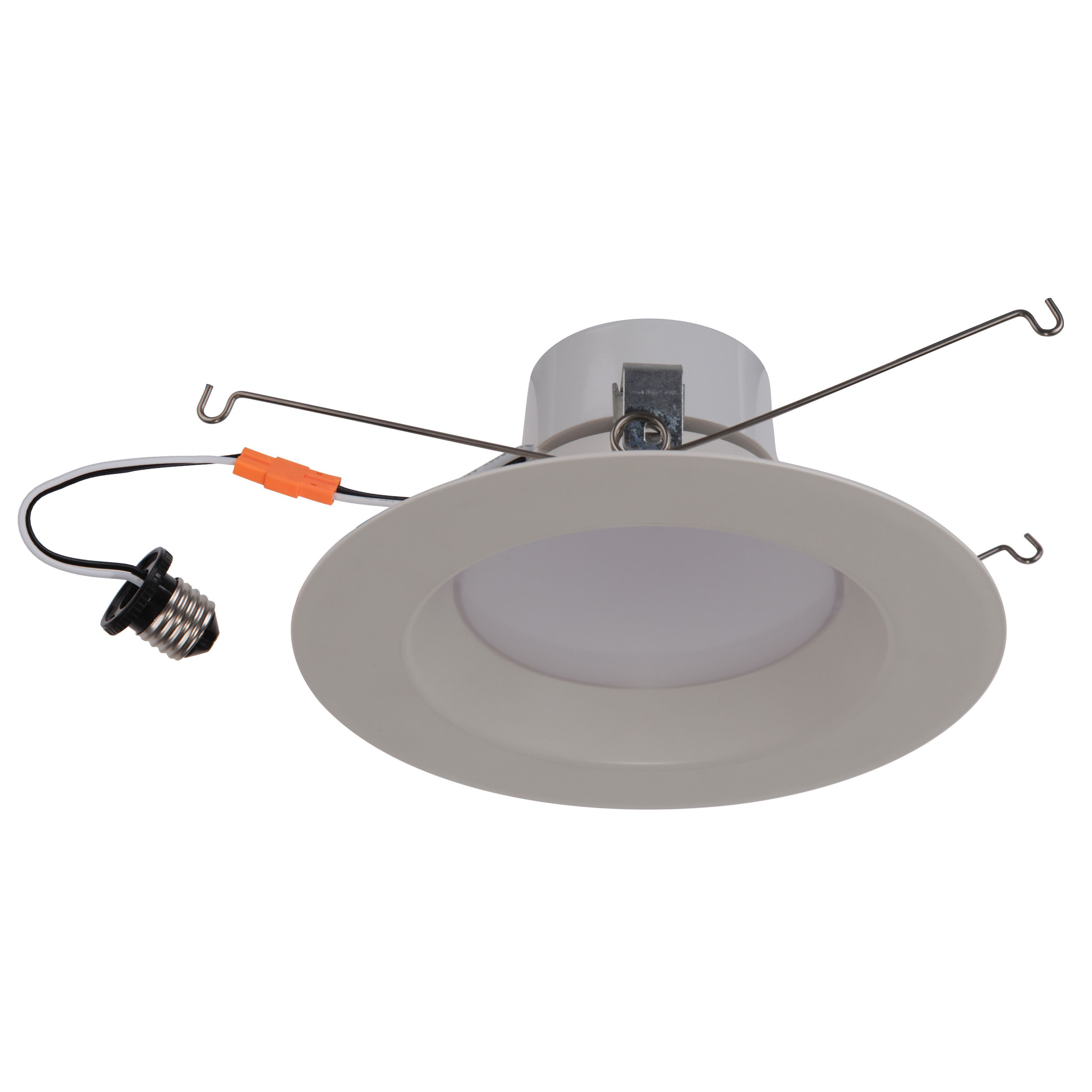 Hallway lighting no outlet  Goodlite White Acrylic Round Retrofit watt LED Dimmable Recessed