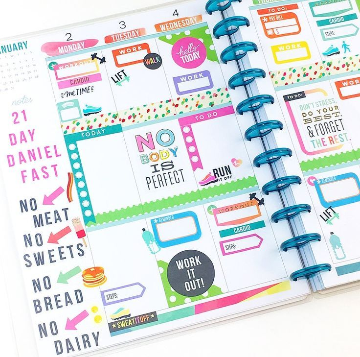 #beforethepen fitness-themed spread in the BIG Happy Planner® -   11 fitness Planner memories ideas