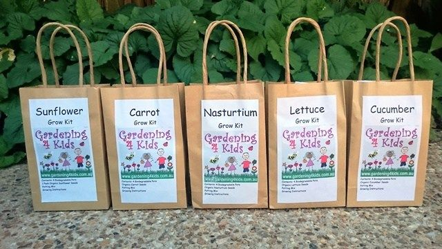 Grow Kits Gardening 4 Kids Everything You Need To Start Growing Your Own Plants Just Add Water Each Kit Contains Grow Kit Organic Seeds Growing Cucumbers