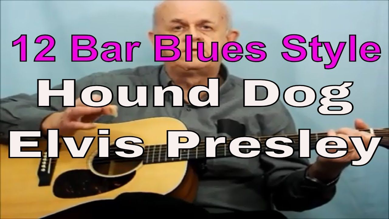 How To Play Hound Dog Elvis Presley On Guitar Using The 12 Bars Blues Ch Guitar Lessons For Beginners Guitar Lessons Best Guitar For Beginners