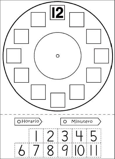 Reloj Para Preescolar Aprender La Hora Actividades De Matemáticas Preescolares Actividades De Matematicas