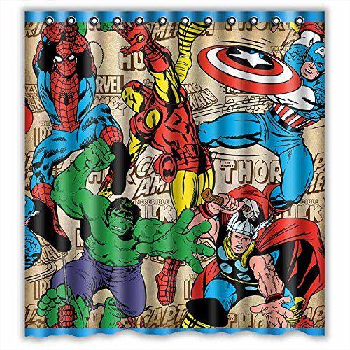 Custom Marvel Comics Superheroes Waterproof Bathroom Shower Curtain Polyester Fabric Shower Curtain Size 66 X 72 Shower Curtain http://www.amazon.com/dp/B00Z8V44LM/ref=cm_sw_r_pi_dp_P8ajwb070N4Q1