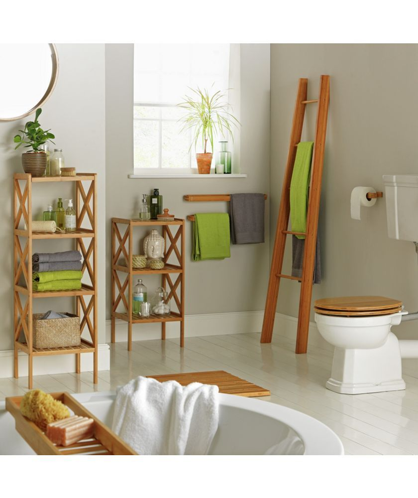 Buy collection bamboo ladder shelf at argos your online shop