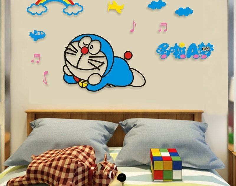 17 Lukisan Kartun Di Dinding Kamar Lukisan Dinding 3d Doraemon Cikimm Com Download Jasa Lukis Dinding Gambar Kartun Gri In 2020 Home Decor Decor Home Decor Decals