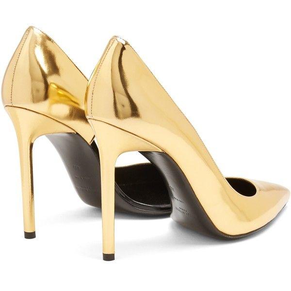 adbfaaafd5 Saint Laurent Anja leather pumps ($537) ❤ liked on Polyvore ...