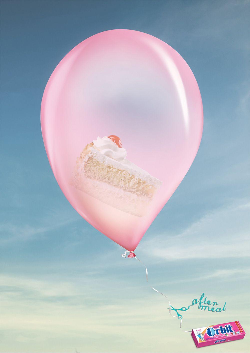 Orbit for kids - cake | #ads #marketing #creative #werbung #print #poster #advertising #campaign repinned by www.BlickeDeeler.de