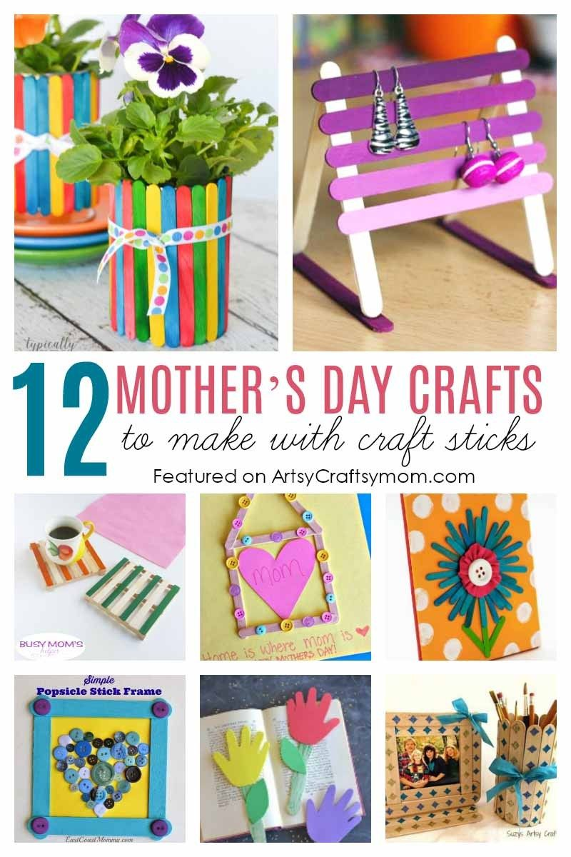 12 Mother\'s Day Crafts to Make with Craft Sticks   Pinterest   Ideas