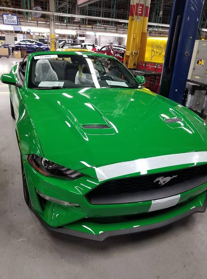 Spinel Green  Ford Mustang Photographed