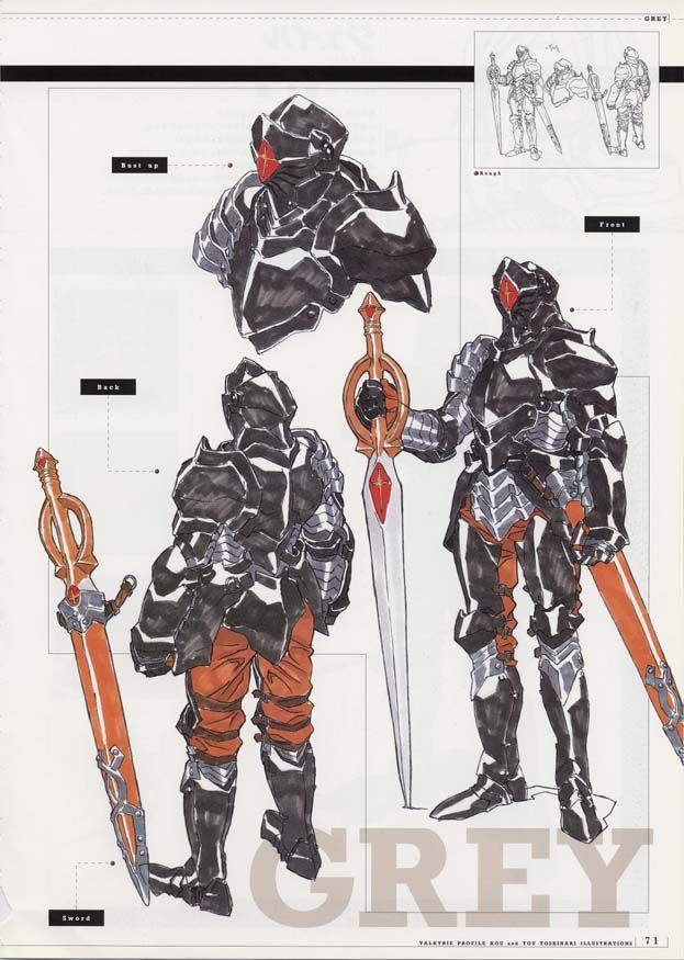 Character Design Profile : Libro de arte valkyrie profile art book of