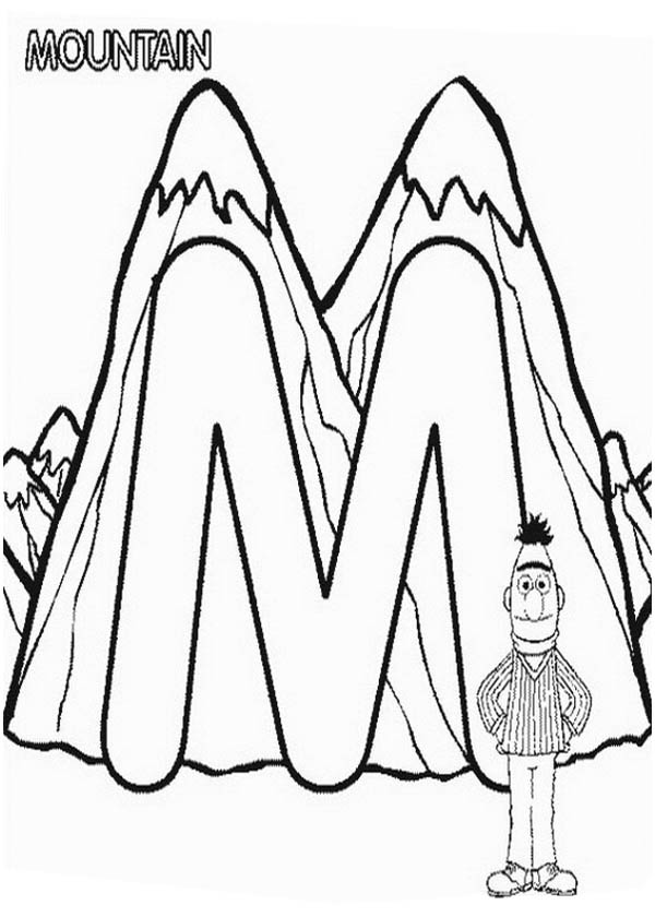 Learn Letter M For Mountain In Sesame Street Coloring Page Best Place To Color Sesame Street Coloring Pages Alphabet Coloring Pages Coloring Pages