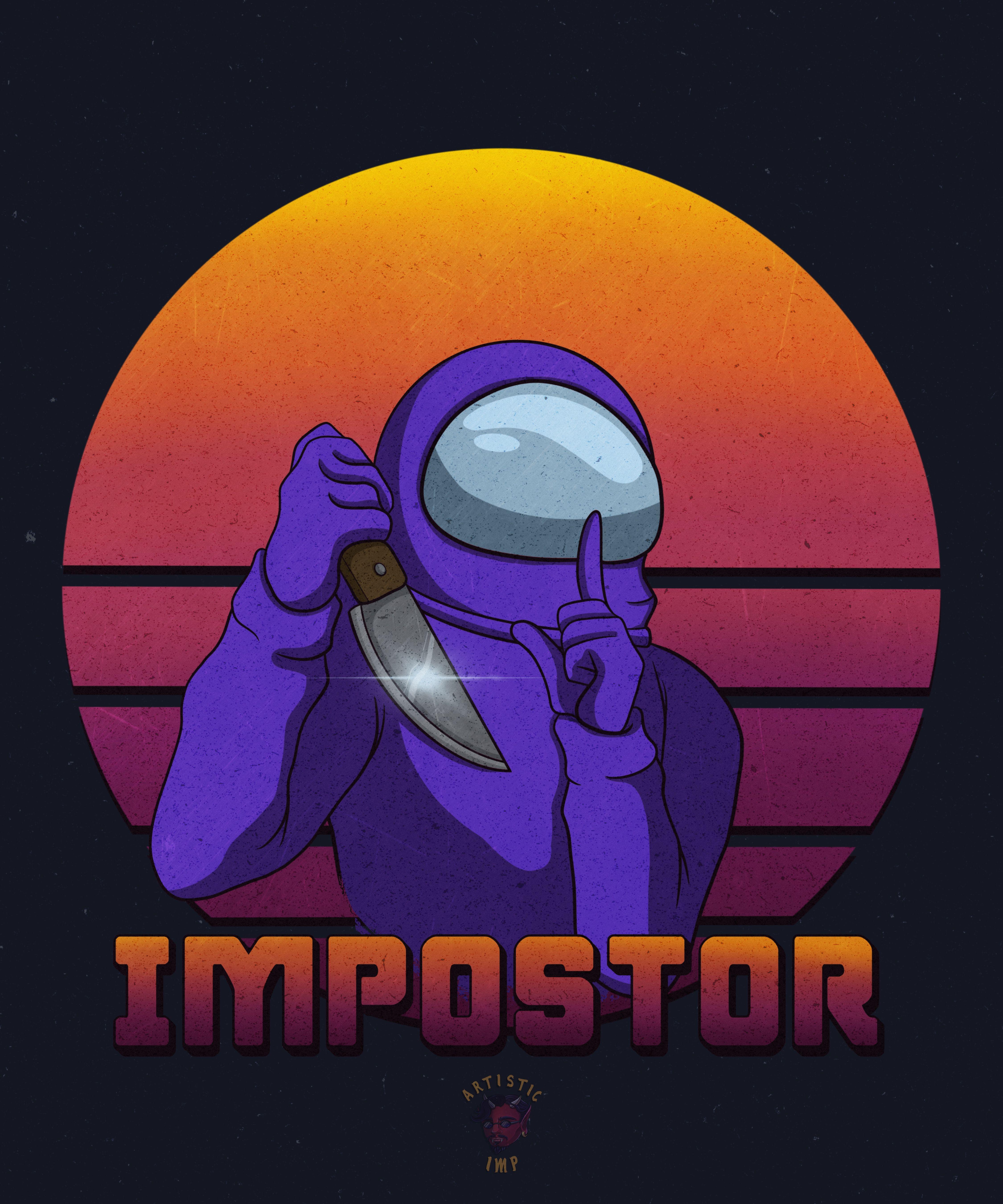 Among Us Impostor Purple Crewmate Classic T Shirt By Artistic Imp Cute Patterns Wallpaper Cute Cartoon Wallpapers Character Wallpaper