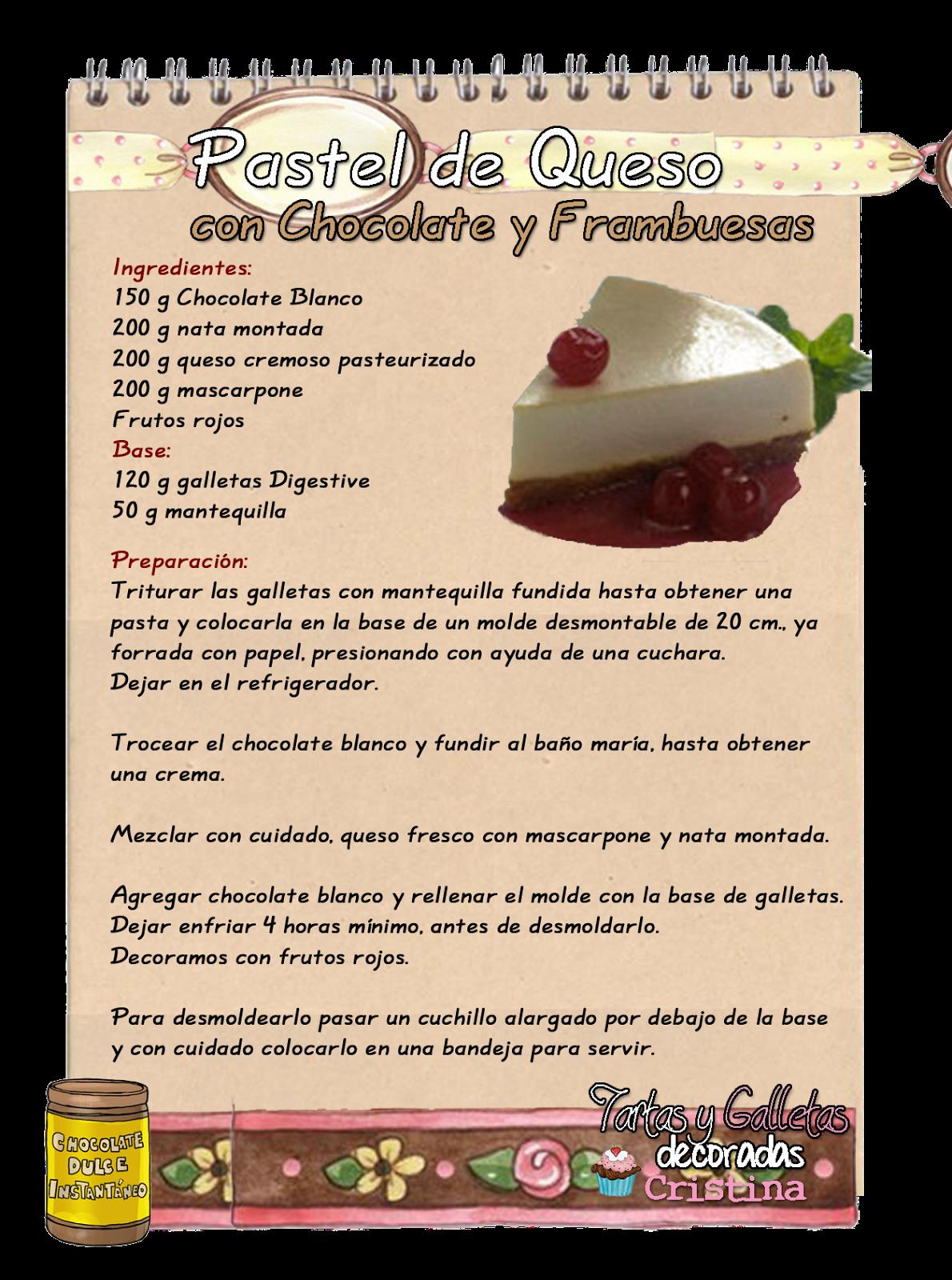 Pastel De Queso Con Chocolate Blanco Y Frambuesas Recetas De