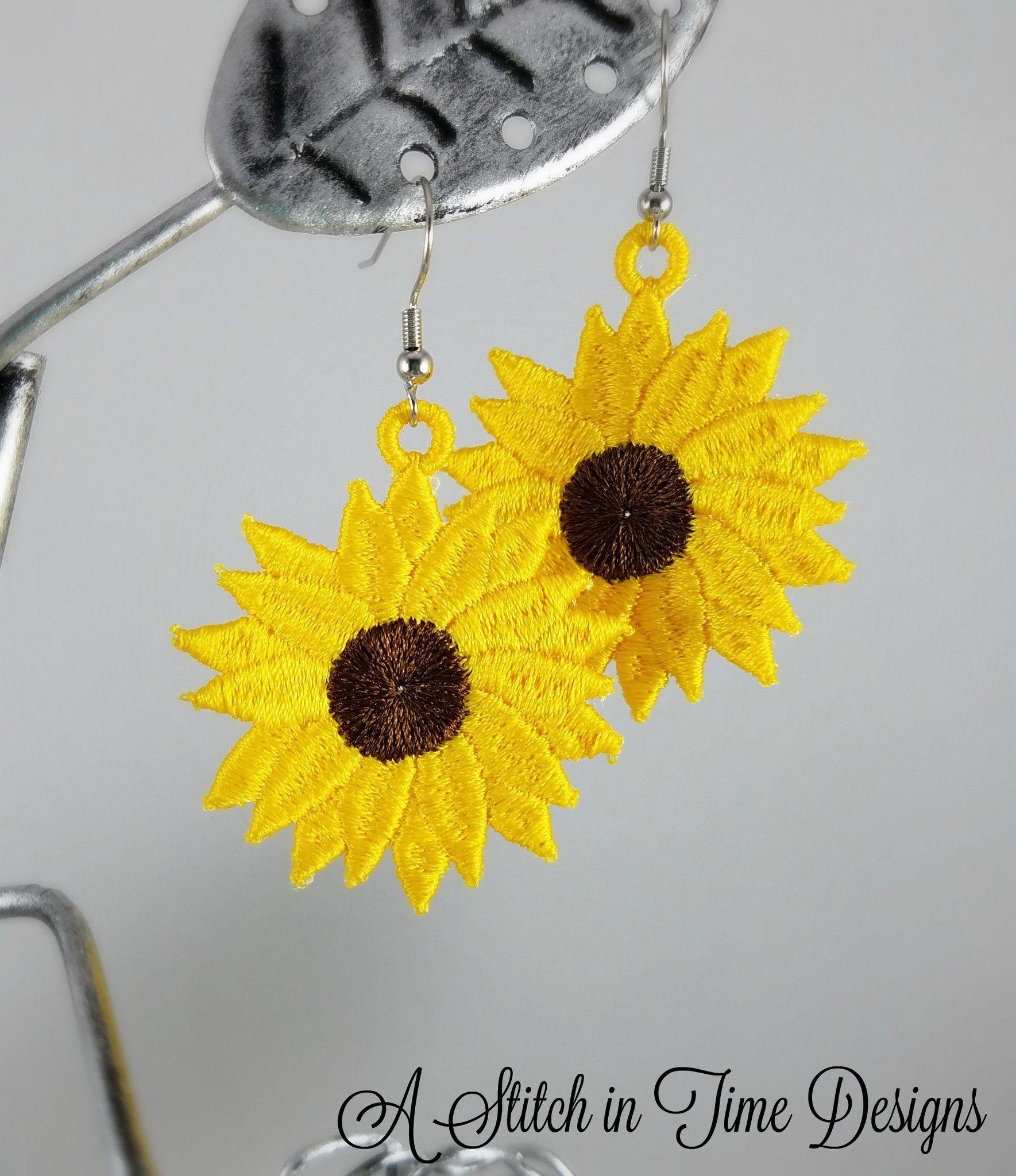 FSL Sunflower Earrings Earrings, Bridal jewelry sets