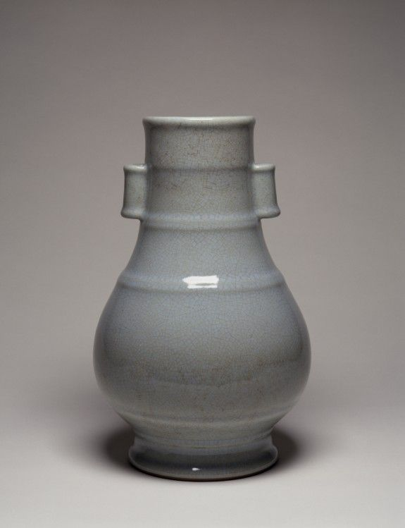 Vase, Chinese - PERIOD: 1722-1735 - porcelain with iron oxide glaze