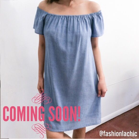 COMING SOON! Off The Shoulder Dress Just wanted to let you girls know whats coming soon to my closet!  LIKE IF YOU WANT TO BE NOTIFIED WHEN I RECEIVE IT!! Atid Clothing Dresses Midi