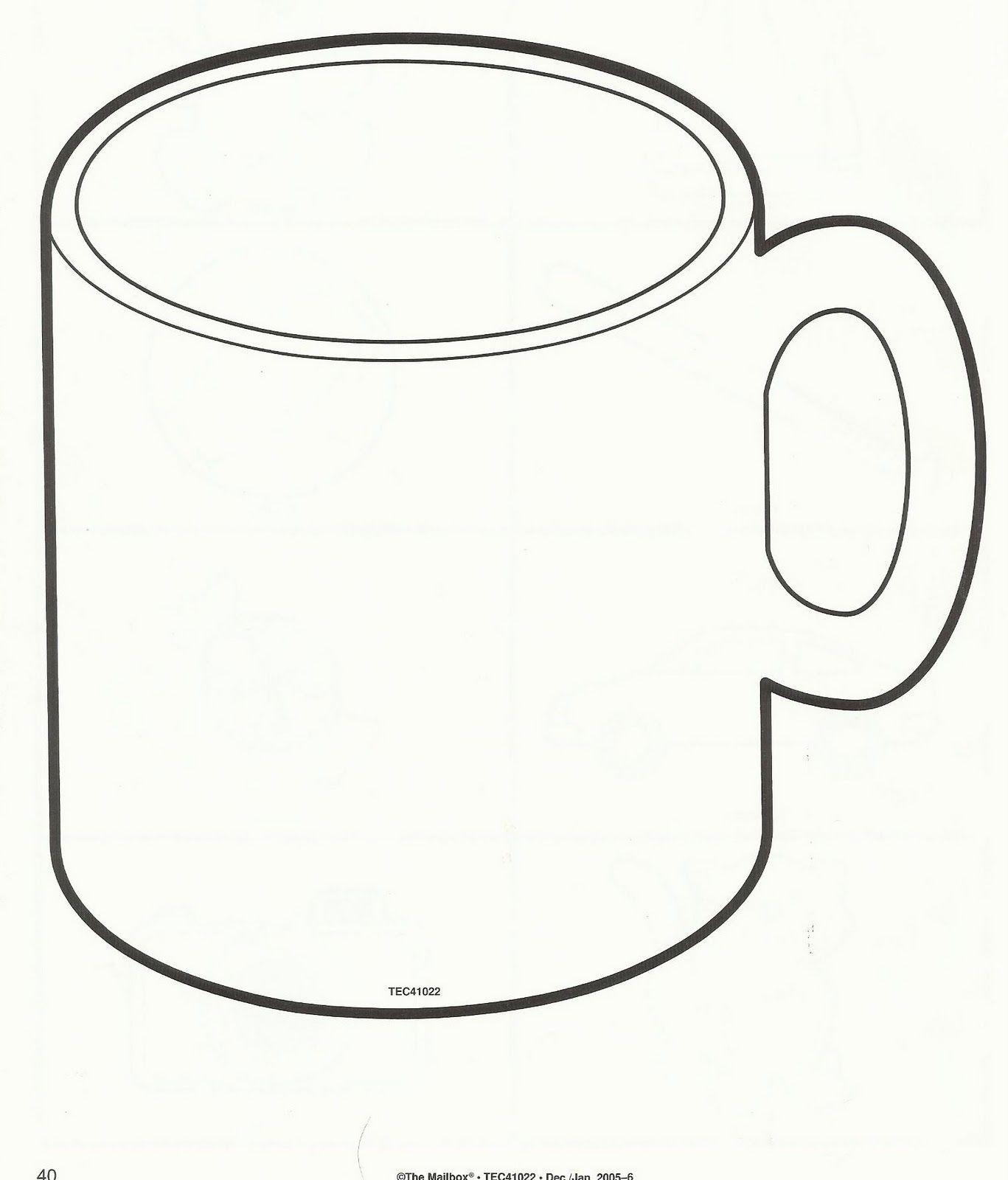 Squish Preschool Ideas December Mug Template Winter Crafts For