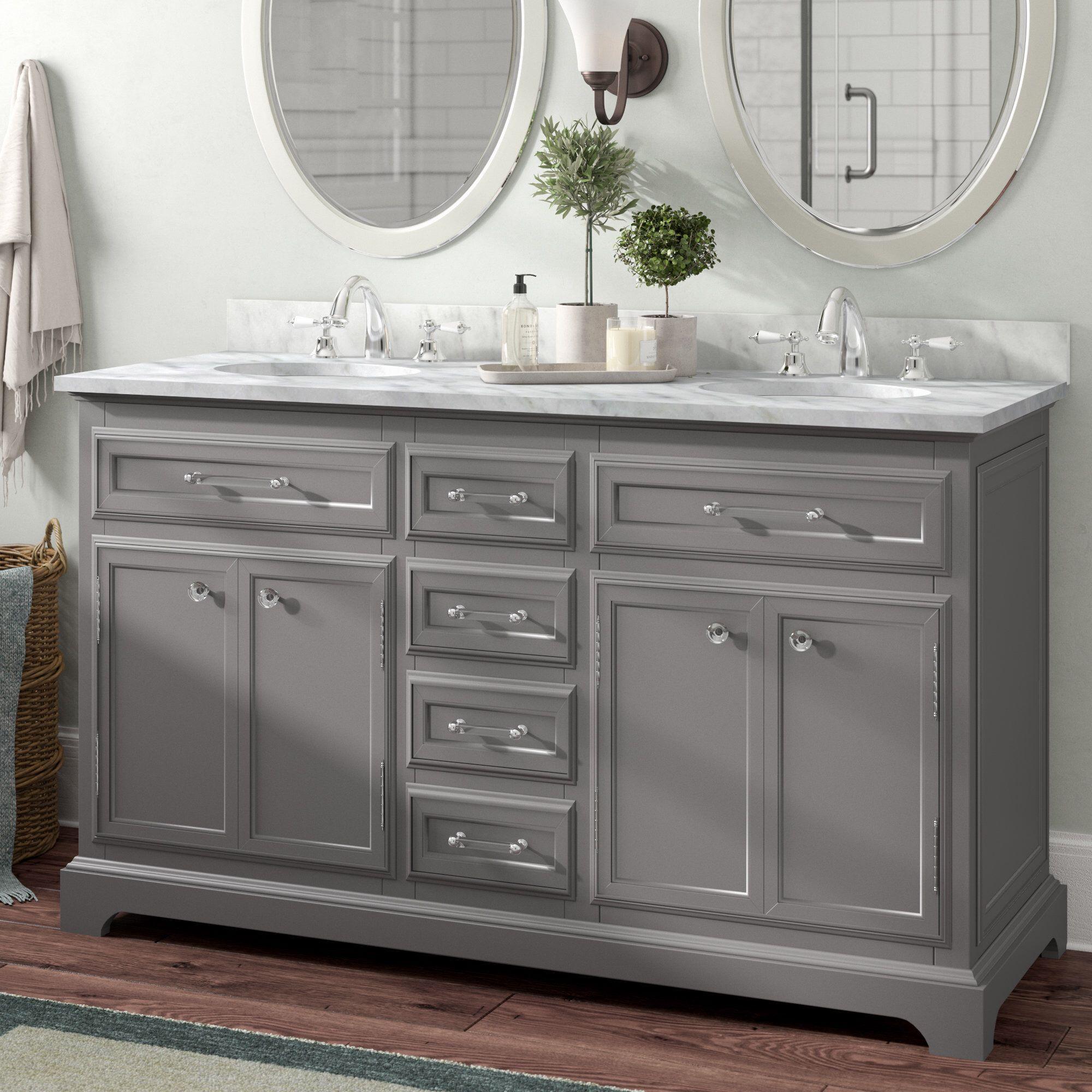 Bergin 60 Double Bathroom Vanity Set With Images Double