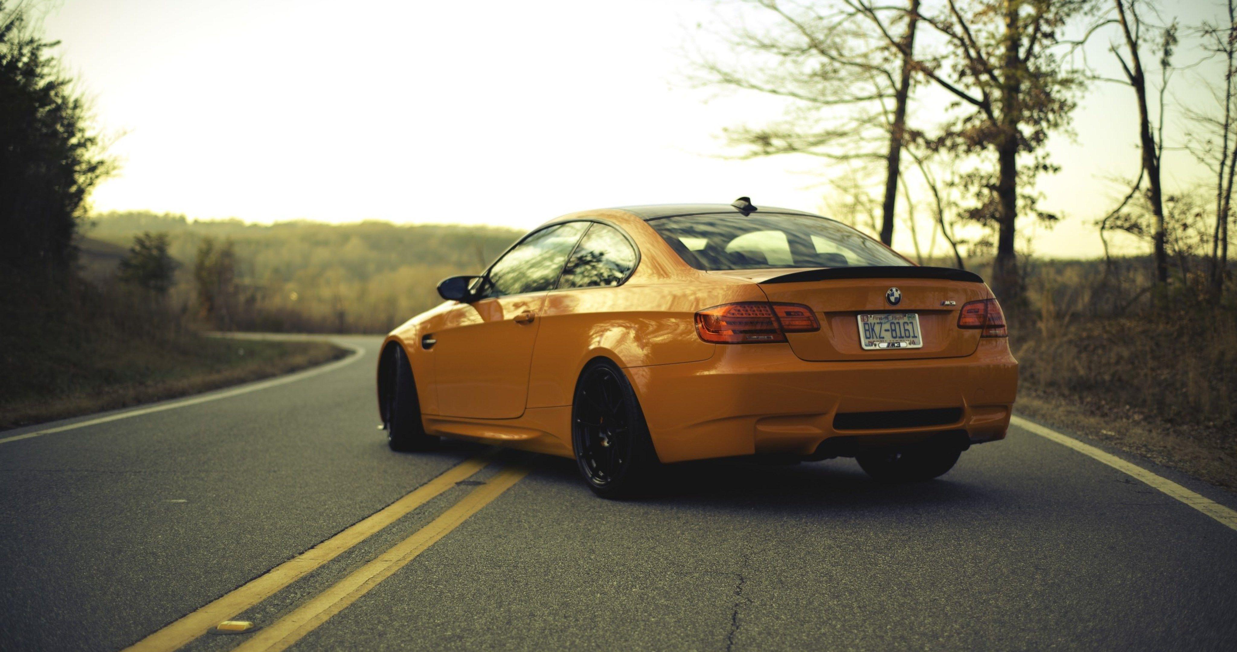 Bmw M3 E92 Orange 43 4k Ultra Hd Wallpaper