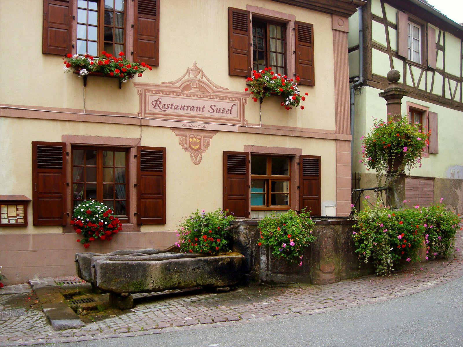 Le restaurant Suzel, à Hunawihr House styles, Restaurant