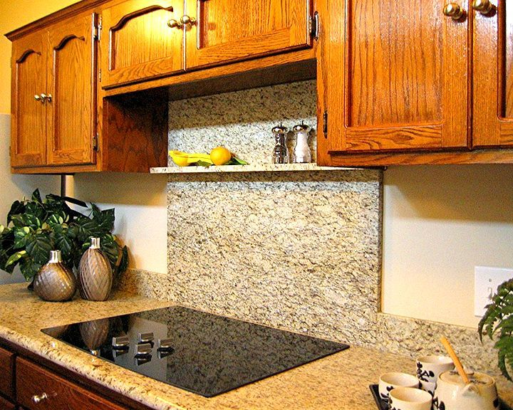 Run Granite Up Behind Range Instead Of Tile Back Splash