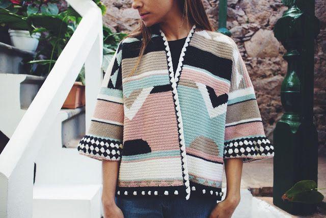 Patrón de ganchillo gratis: Rebeca oversize con Woolly Chic | El blog de Dmc | Bloglovin'