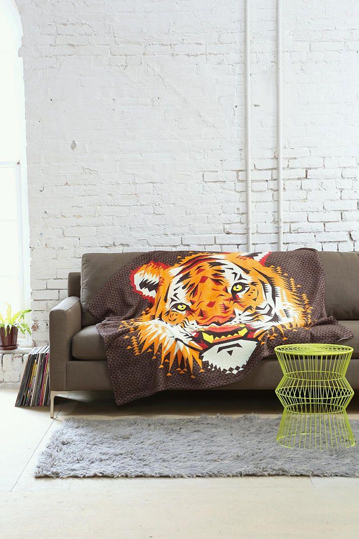 Chobopop for deny geometric tiger throw blanket dream house
