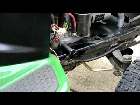 John Deere Lawn Tractor Tune Up Step 1 Of 5 The Oil Change